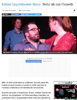 Arbeitsprobe Lokales: Die Kölner Improtheater-Szene - Mehr als nur Comedy